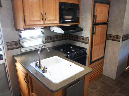 Laredo travel trailer kitchen